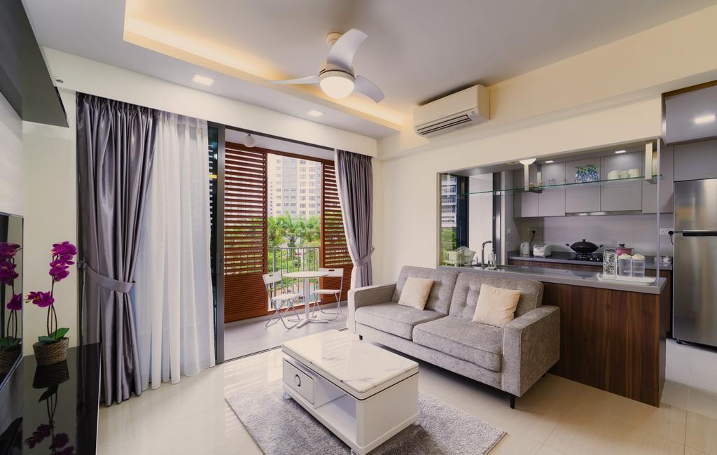 Contemporary, Condo, Living Room, Parc Life, Interior Designer, SHE Interior