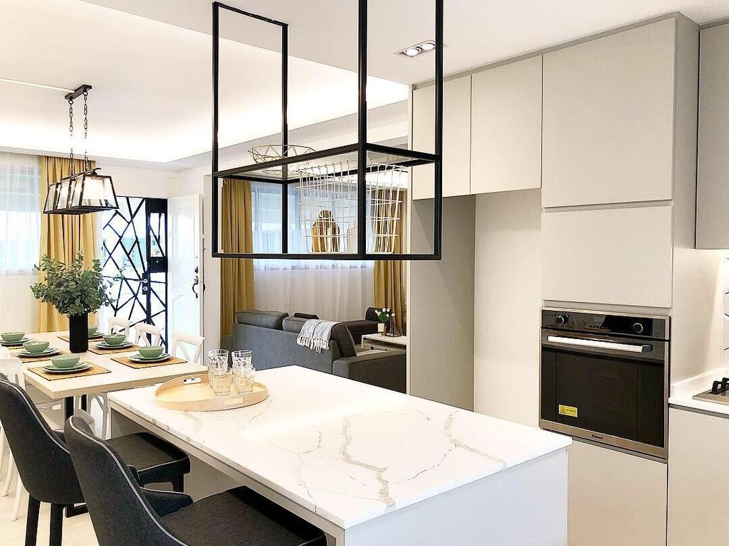 Scandinavian, HDB, Dining Room, Petir Road, Interior Designer, Tid Plus Design