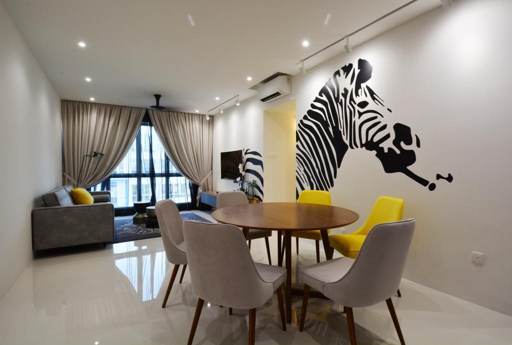 Contemporary, Condo, Living Room, La Casa, Interior Designer, Diva's Interior Design