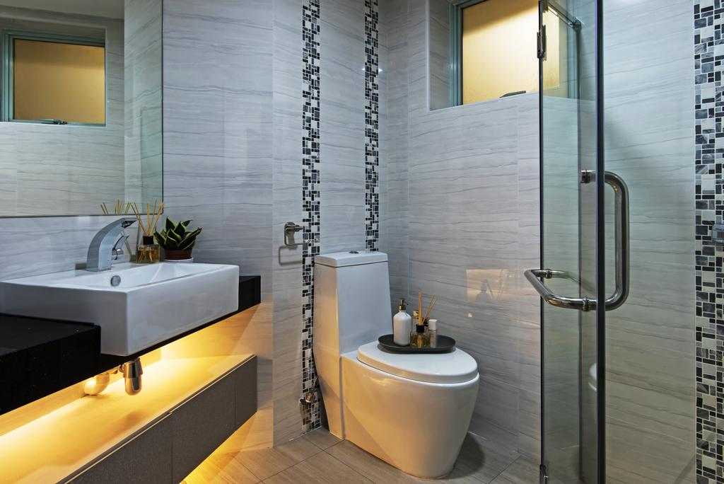 Contemporary, Condo, Bathroom, Guilin View, Interior Designer, Diva's Interior Design