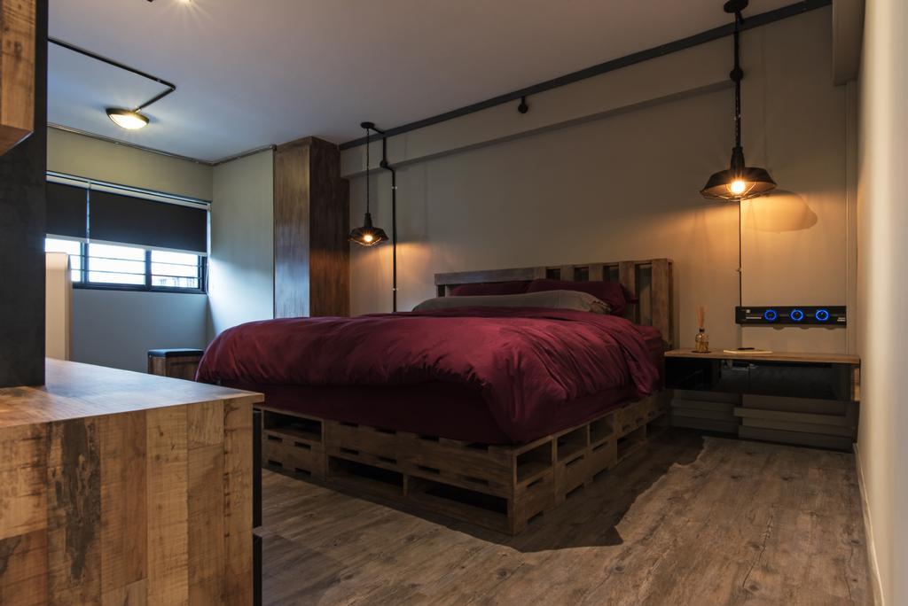 Contemporary, HDB, Bedroom, Marsiling Rise, Interior Designer, Diva's Interior Design, Industrial