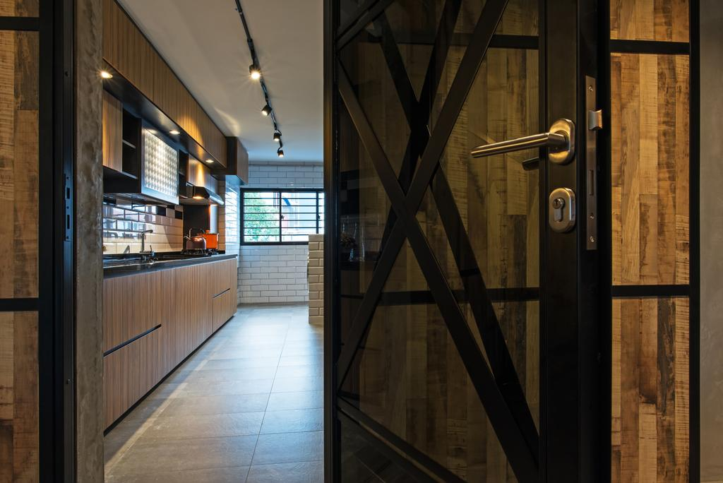 Contemporary, HDB, Kitchen, Marsiling Rise, Interior Designer, Diva's Interior Design, Industrial