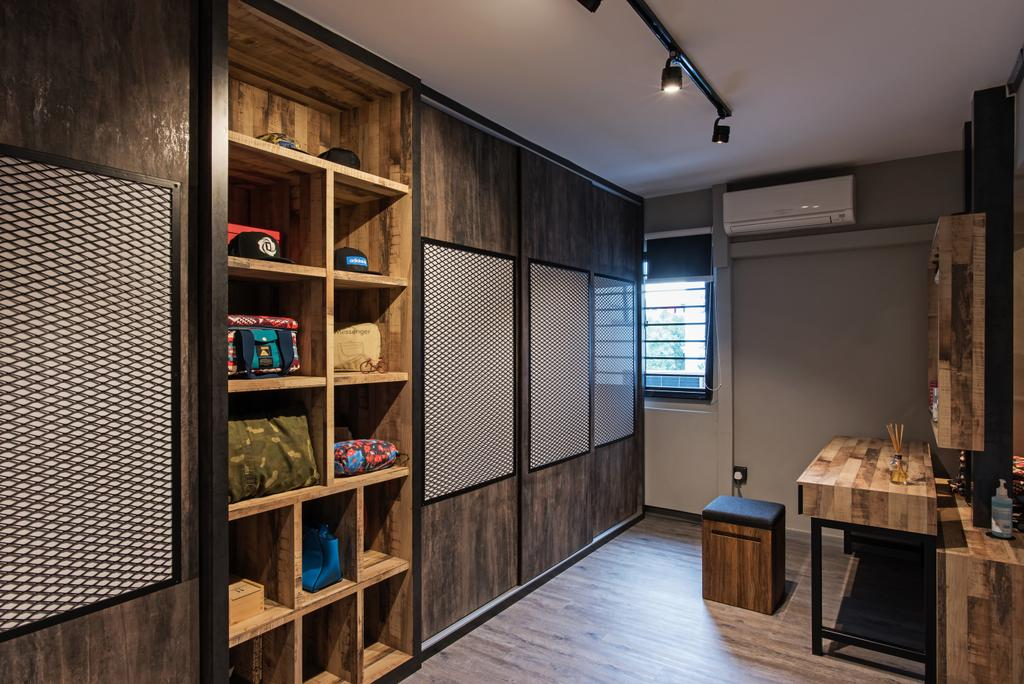 Contemporary, HDB, Marsiling Rise, Interior Designer, Diva's Interior Design, Industrial