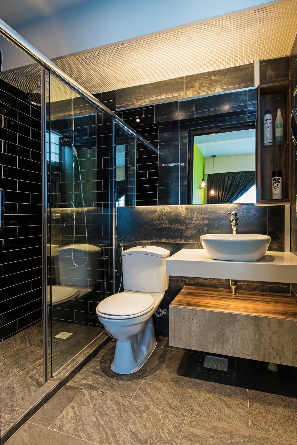 Contemporary, HDB, Bathroom, Yishun Ring Road, Interior Designer, Diva's Interior Design