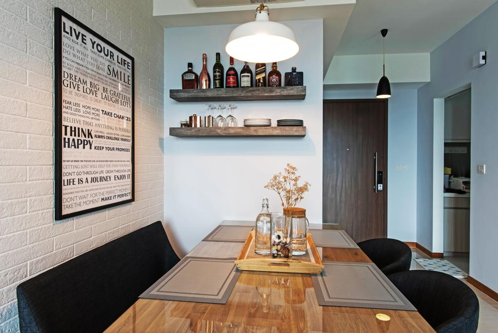 Contemporary, HDB, Dining Room, Canberra Drive, Interior Designer, Diva's Interior Design