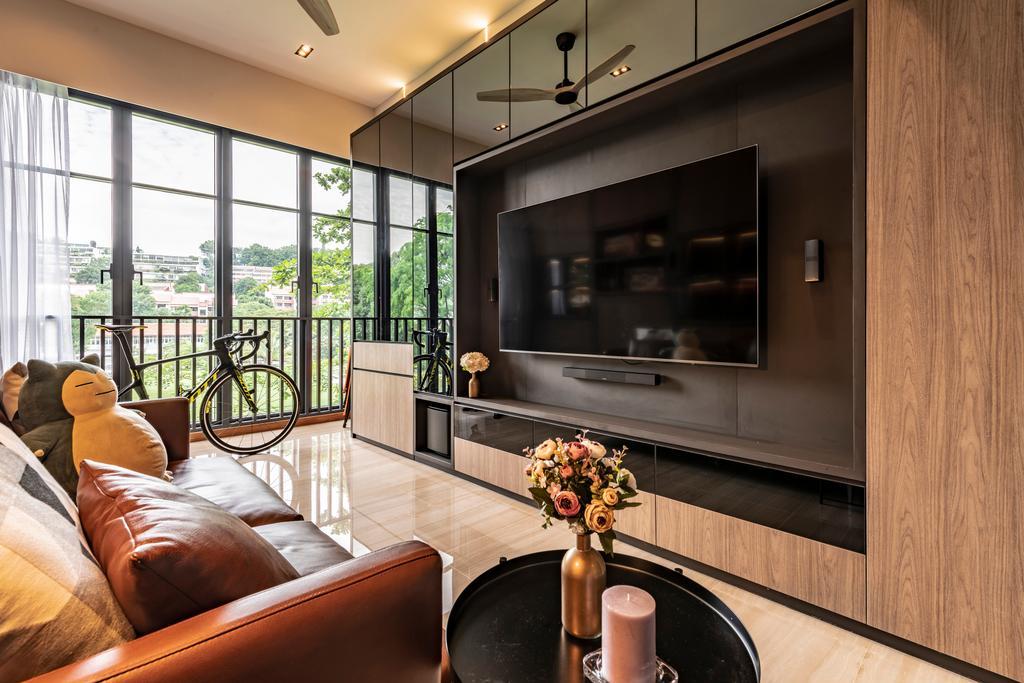 Contemporary, Condo, Living Room, Bijou, Interior Designer, Escapade Studios