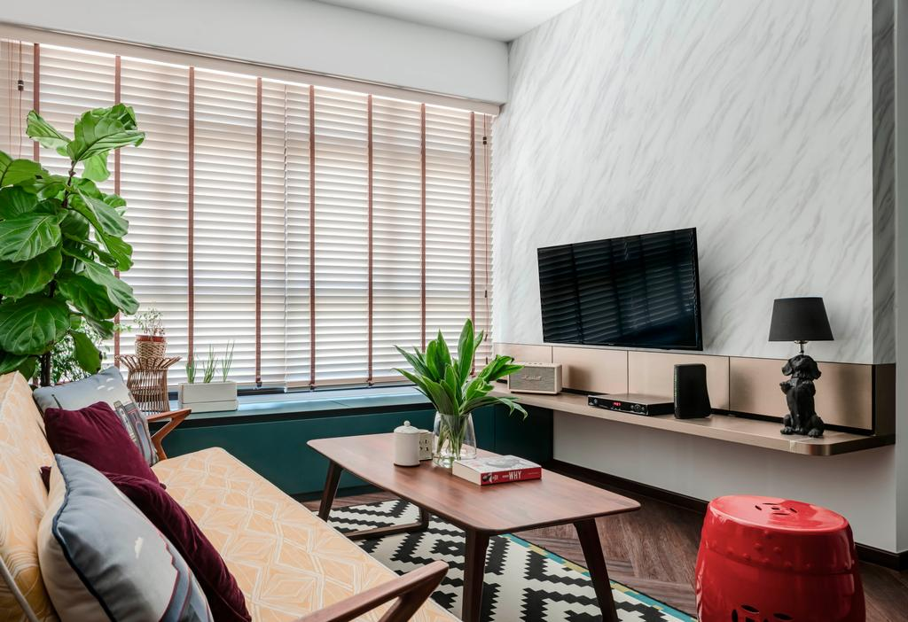 Eclectic, HDB, Living Room, Buangkok Crescent, Interior Designer, Ethereall, Contemporary