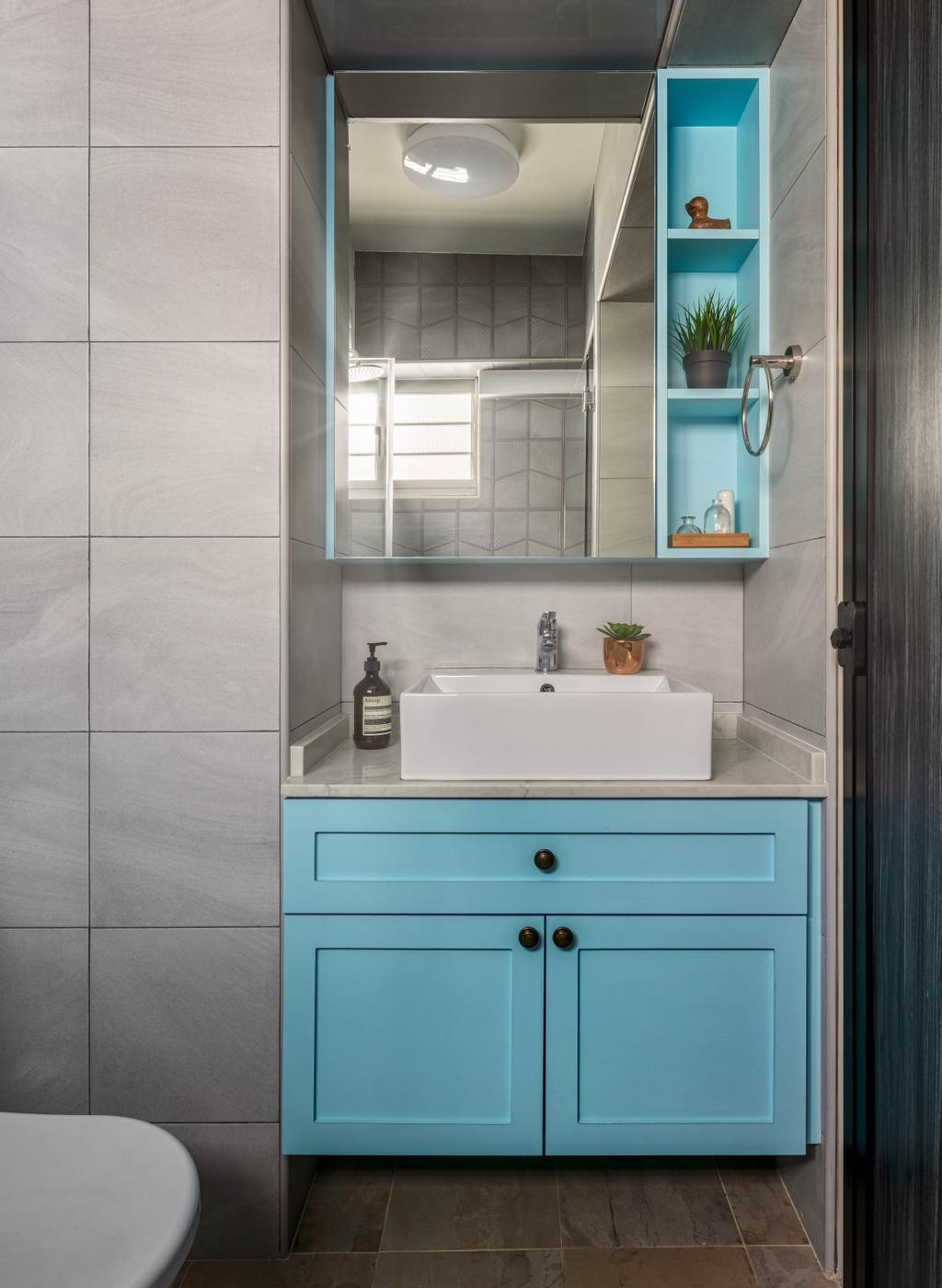 Eclectic, HDB, Bathroom, Holland Drive, Interior Designer, Ethereall, Contemporary