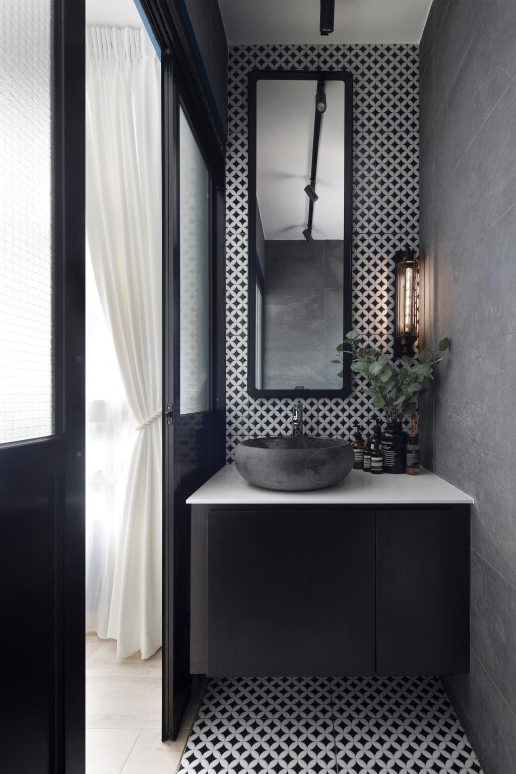 Eclectic, HDB, Bathroom, Eunos Crescent, Interior Designer, Fuse Concept