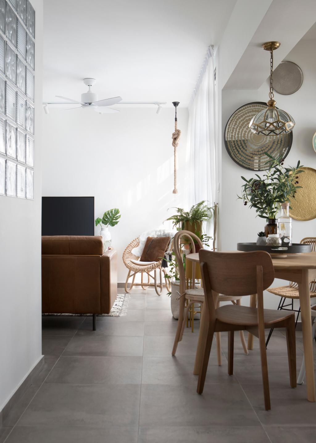 Eclectic, HDB, Living Room, Eunos Crescent, Interior Designer, Fuse Concept