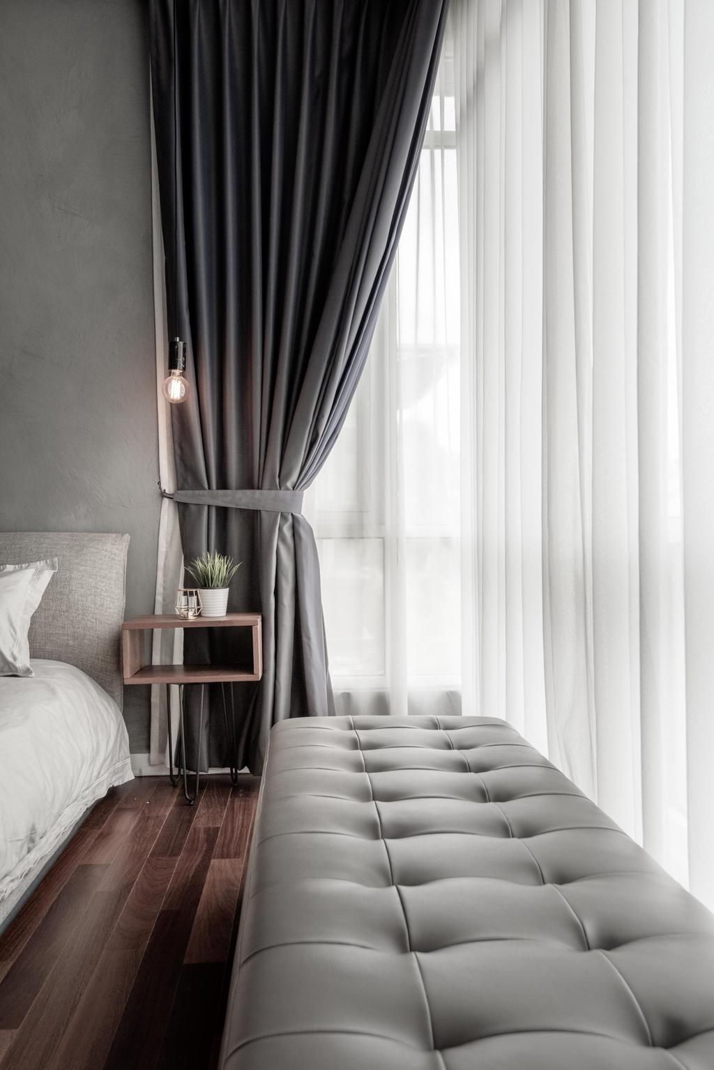 Modern, Landed, Bedroom, Tijani 2, Bukit Tunku, Interior Designer, Dot Works, Industrial