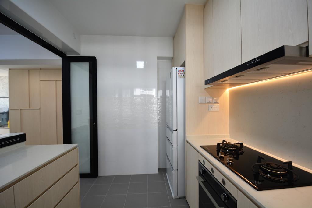 Contemporary, HDB, Kitchen, Sumang Walk, Interior Designer, Diva's Interior Design