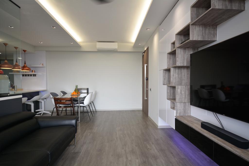 Contemporary, Condo, Living Room, La Fiesta, Interior Designer, Diva's Interior Design