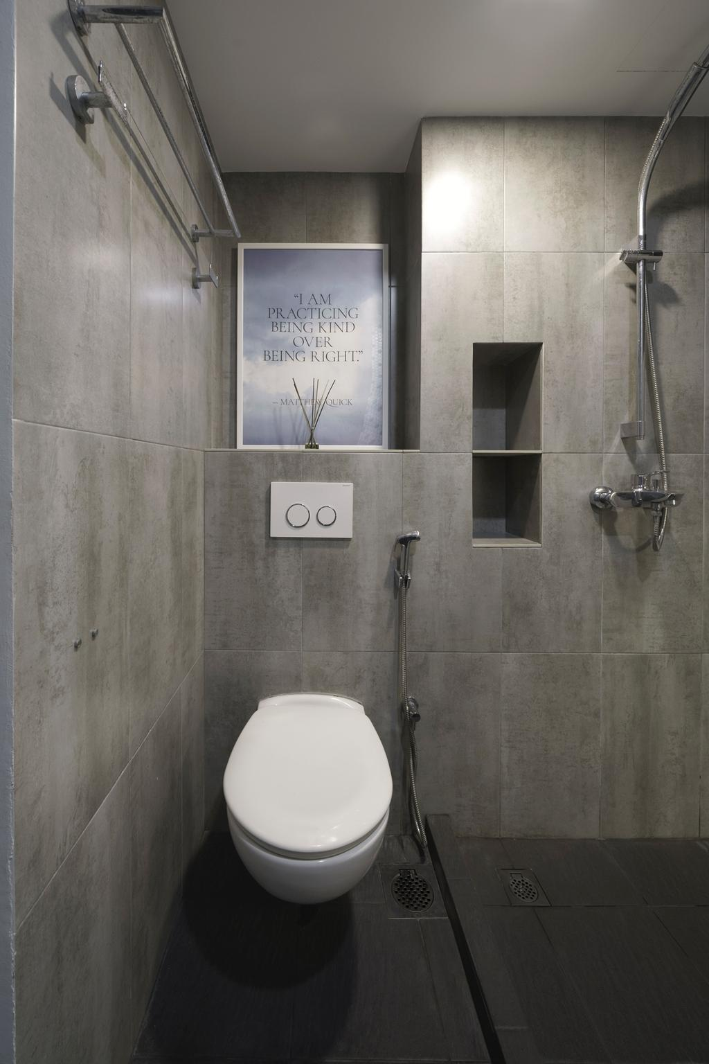 Minimalistic, HDB, Bathroom, The Pinnacle, Interior Designer, DISTINCTidENTITY