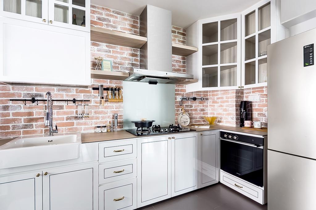 Industrial, HDB, Kitchen, Fernvale Link, Interior Designer, DISTINCTidENTITY