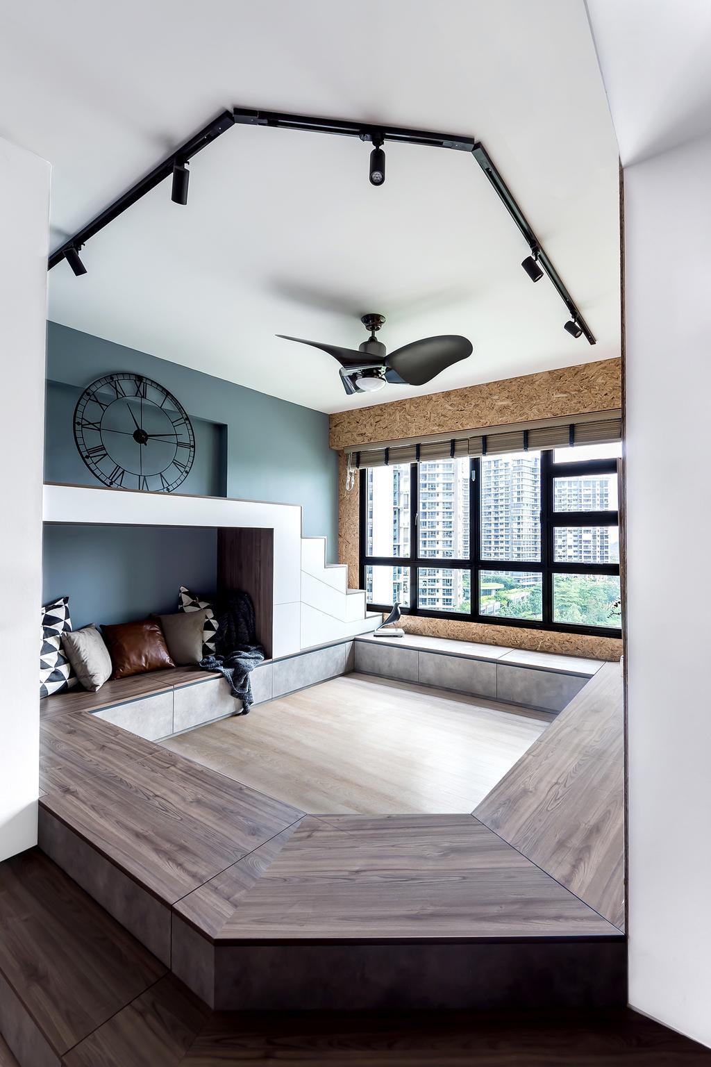 Industrial, HDB, Living Room, Fernvale Link, Interior Designer, DISTINCTidENTITY