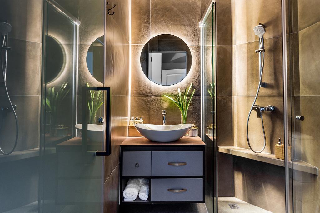 Modern, Condo, Bathroom, Mountbatten Suites, Interior Designer, DISTINCTidENTITY