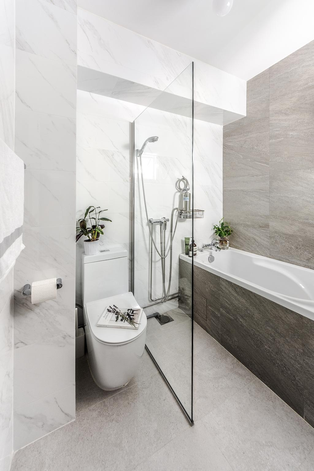 Contemporary, HDB, Bathroom, McNair Road, Interior Designer, DISTINCTidENTITY, Modern