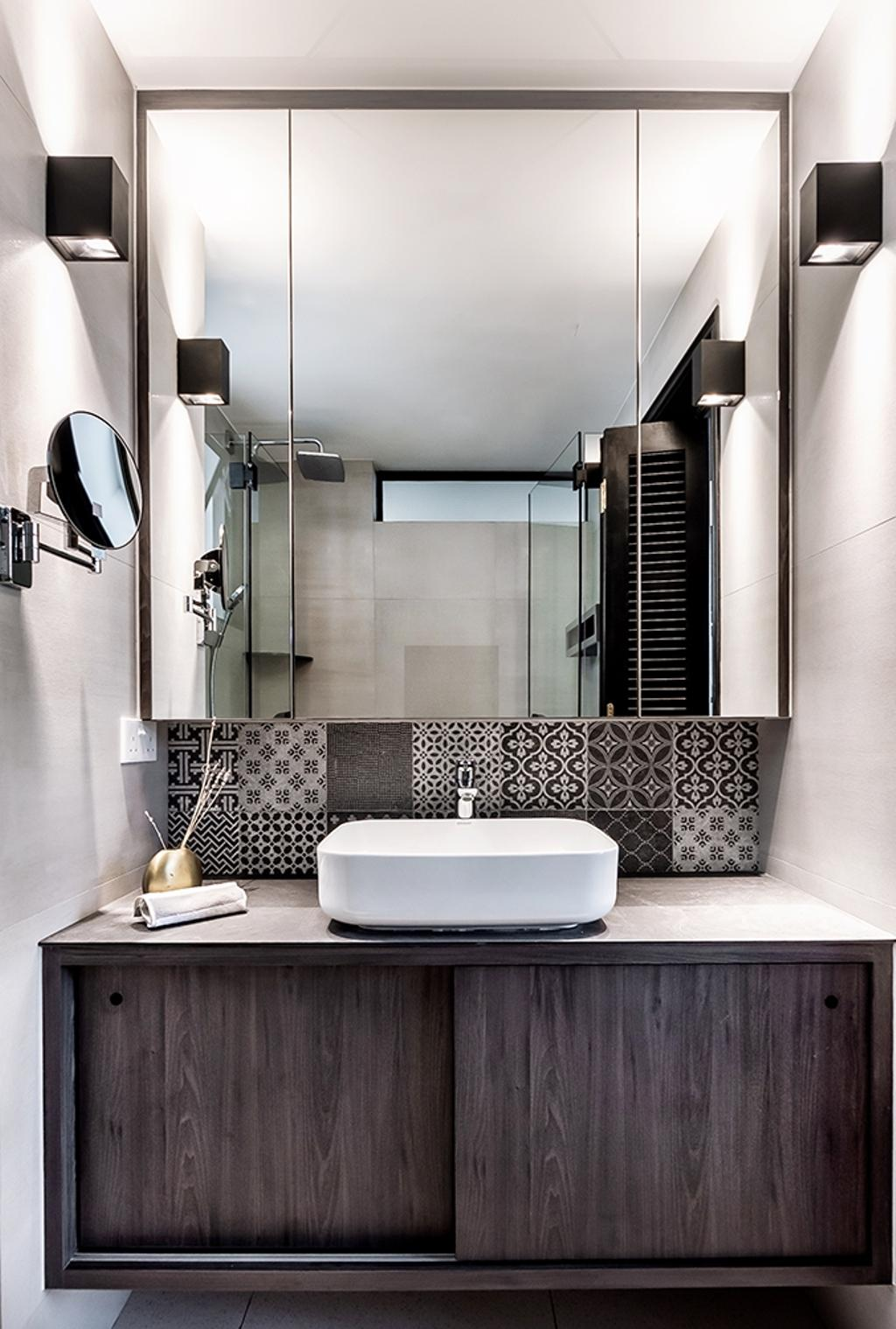 Contemporary, Condo, Bathroom, Tanjong Rhu, Interior Designer, DISTINCTidENTITY, Modern