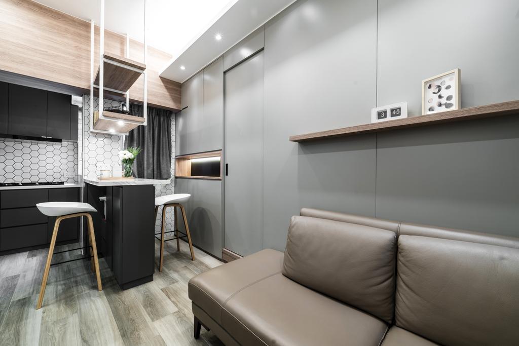 私家樓, 客廳, 新達大廈, 室內設計師, monoo interior Limited