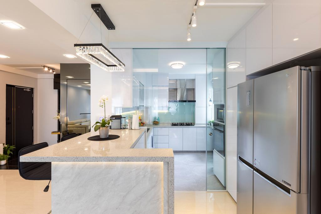 Contemporary, HDB, Kitchen, Woodlands Street 82, Interior Designer, AgcDesign, Modern
