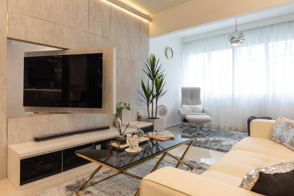Contemporary, HDB, Living Room, Woodlands Street 82, Interior Designer, AgcDesign, Modern