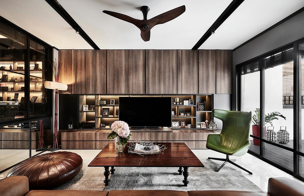 Contemporary, Landed, Living Room, Highgate Crescent, Interior Designer, akiHAUS