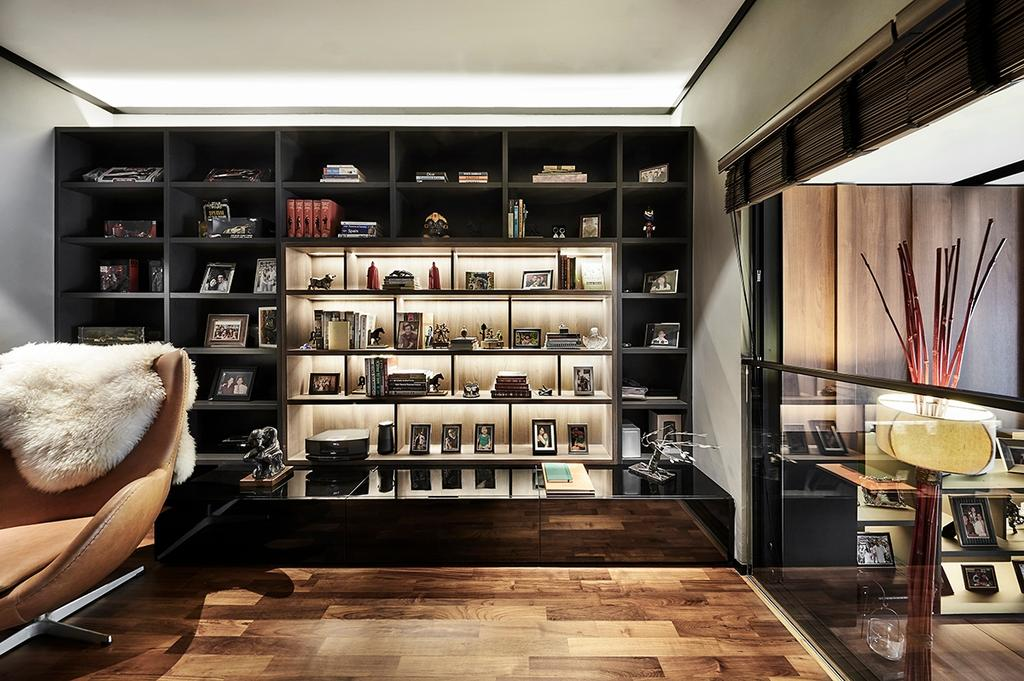 Contemporary, Landed, Study, Highgate Crescent, Interior Designer, akiHAUS, Wine Cabinet, Display, Collectibles
