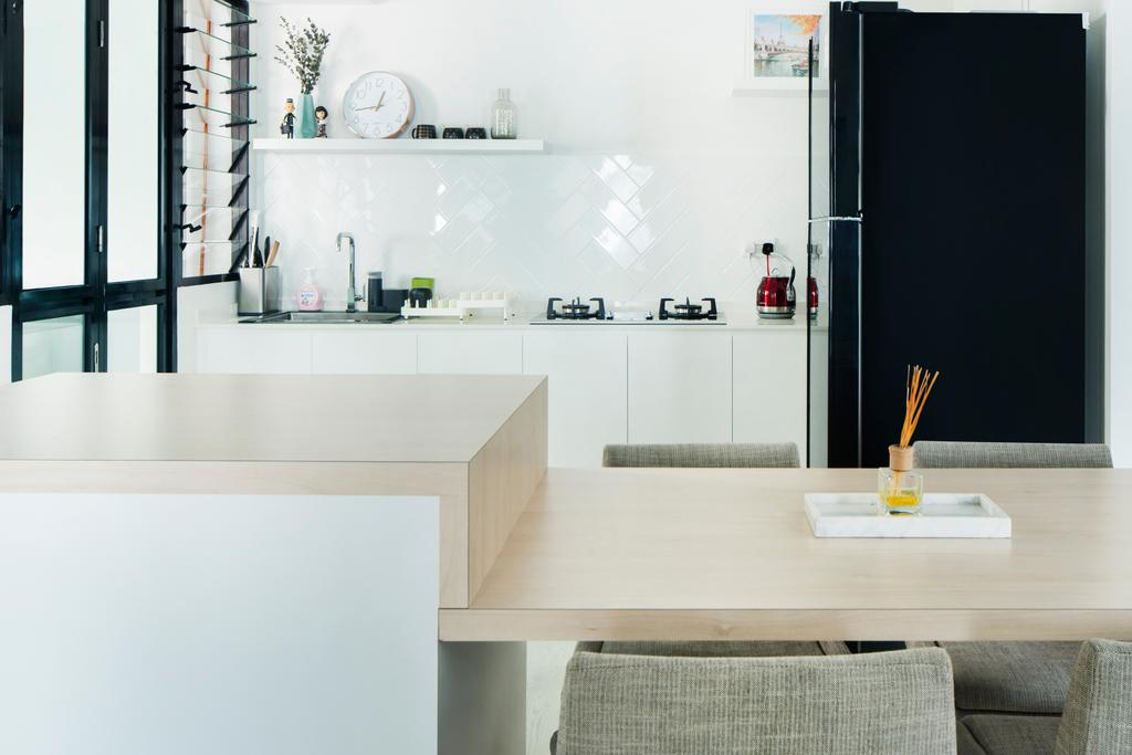 Minimalistic, HDB, Kitchen, Angsana Breeze, Interior Designer, J Design & Build