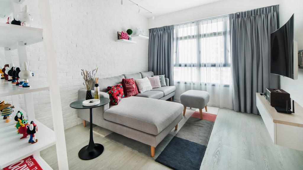 Minimalistic, HDB, Living Room, Angsana Breeze, Interior Designer, J Design & Build