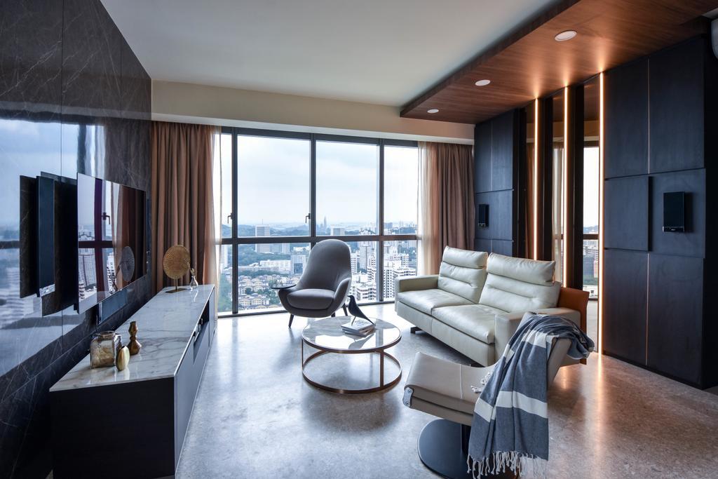 Modern, Condo, Living Room, Echelon, Interior Designer, DISTINCTidENTITY
