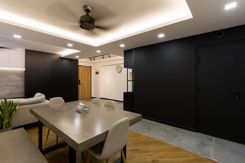 Contemporary, HDB, Dining Room, Punggol Field, Interior Designer, Visionary Interior, Modern