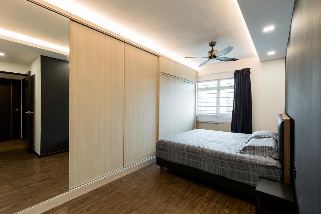 Contemporary, HDB, Bedroom, Punggol Field, Interior Designer, Visionary Interior, Modern