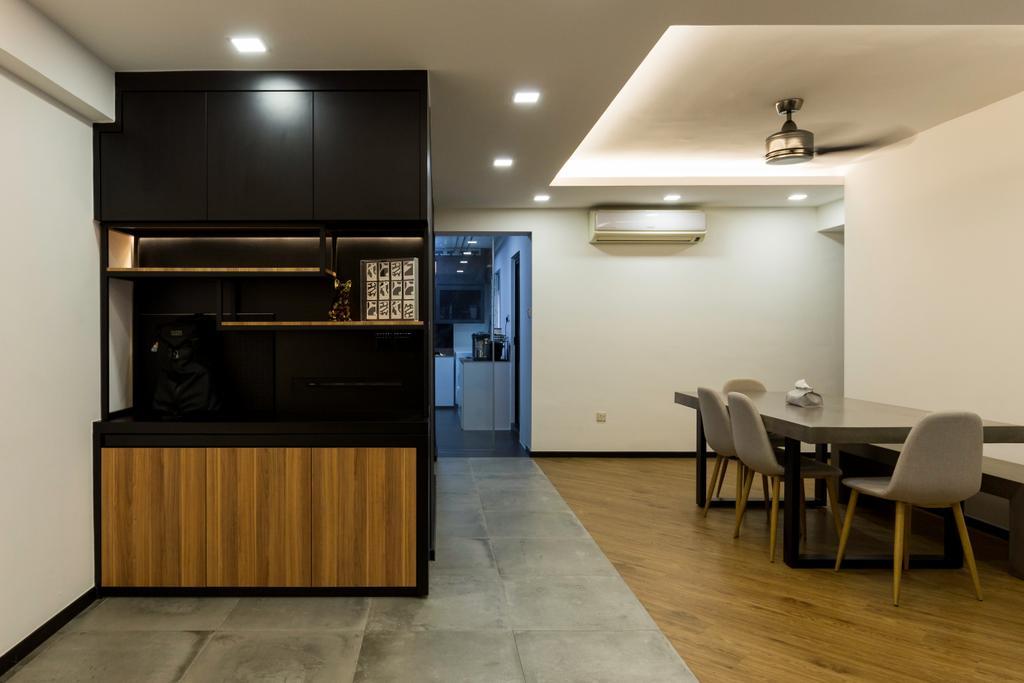 Contemporary, HDB, Punggol Field, Interior Designer, Visionary Interior, Modern
