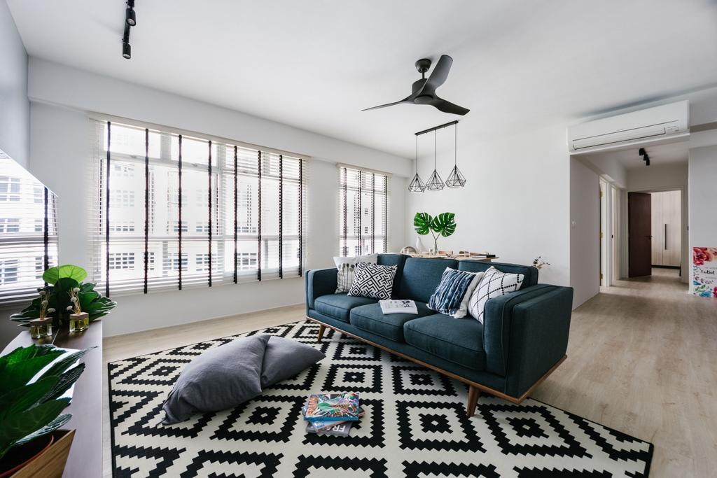 Scandinavian, HDB, Living Room, Admiralty Drive, Interior Designer, DISTINCTidENTITY