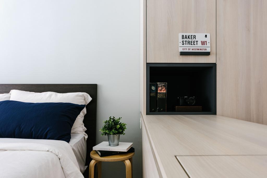 Scandinavian, HDB, Bedroom, Admiralty Drive, Interior Designer, DISTINCTidENTITY