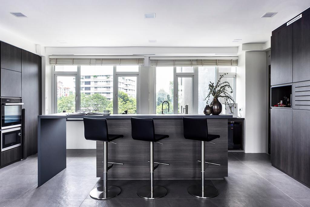 Modern, Condo, Dining Room, Holland Park, Interior Designer, DISTINCTidENTITY, Contemporary, Kitchen Island, Kitchen Counter, Open Concept, Open Kitchen