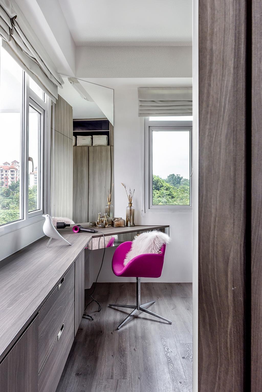 Modern, Condo, Study, Holland Park, Interior Designer, DISTINCTidENTITY, Contemporary, Dresser, Vanity