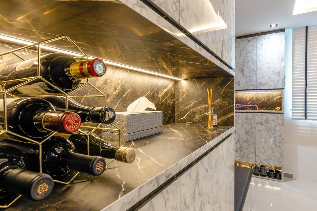 Modern, HDB, Kitchen, Serangoon Avenue 3, Interior Designer, 9 Creation