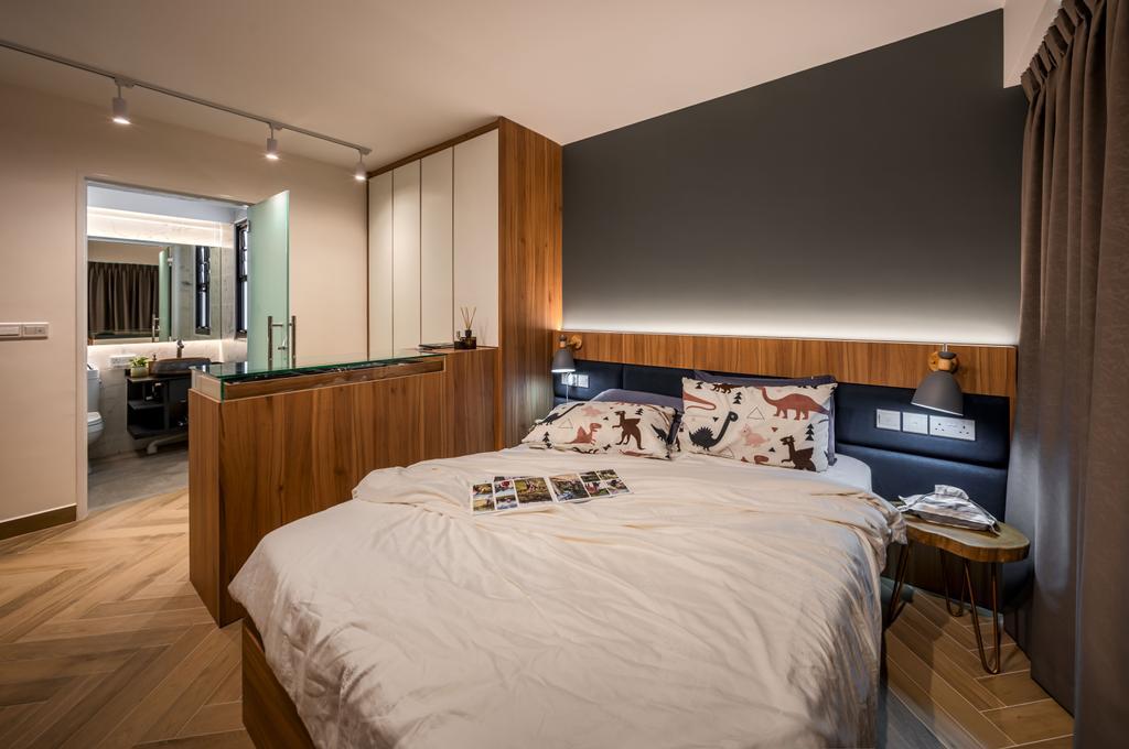 Scandinavian, HDB, Bedroom, Tampines Street 61, Interior Designer, Zenith Arc