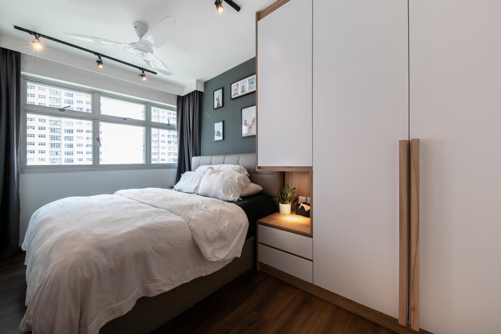 Modern, HDB, Bedroom, Bukit Batok, Interior Designer, Space Atelier, Scandinavian