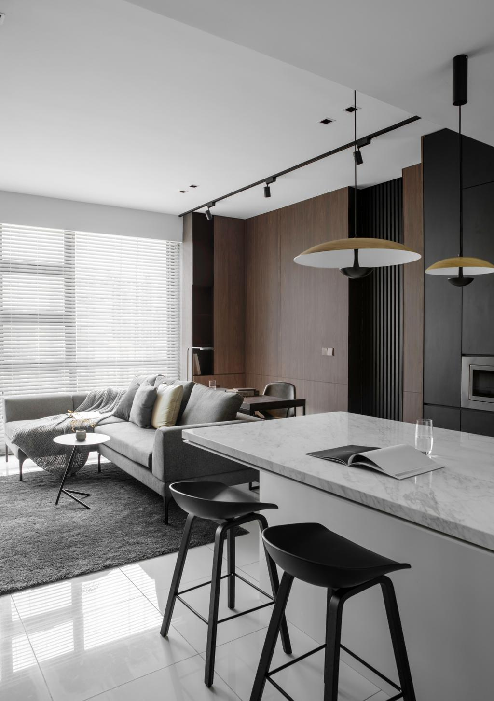 Contemporary, Condo, Living Room, The Robertson Soho, KL, Interior Designer, PINS Studio