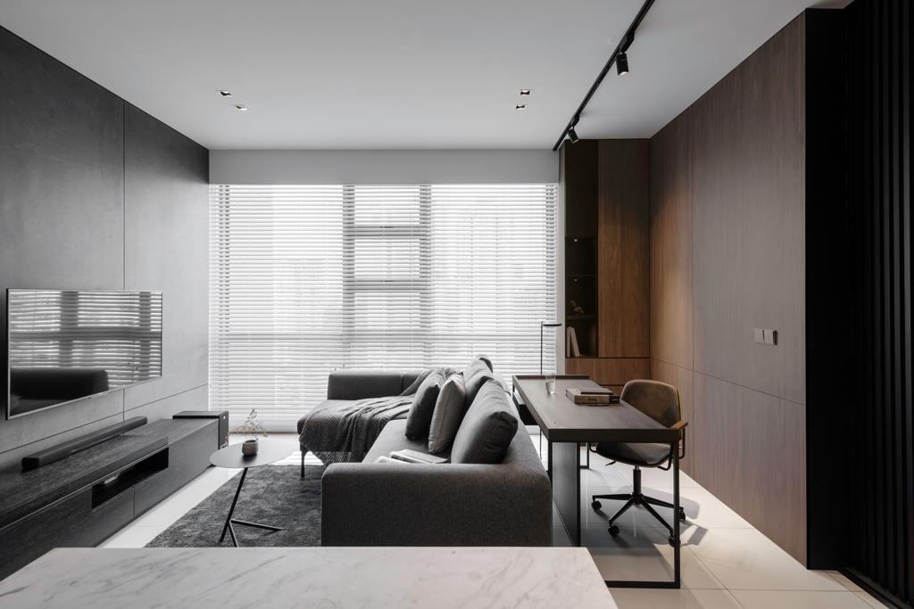 Contemporary, Condo, Living Room, The Robertson Soho, KL, Interior Designer, PINS Studio