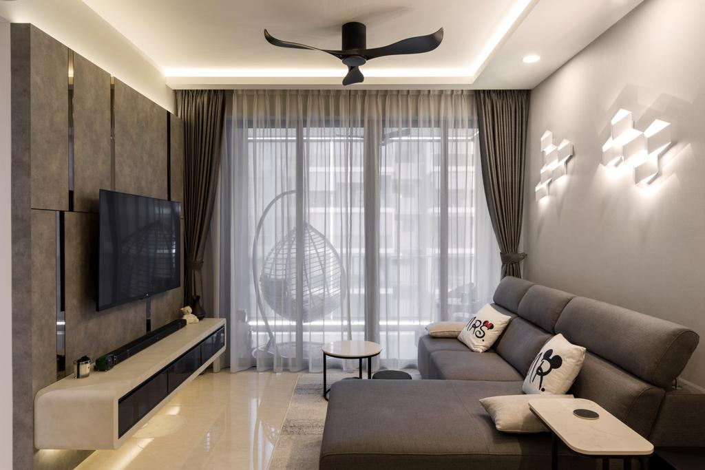 Modern, Condo, Living Room, Signature @Yishun, Interior Designer, The Interior Place