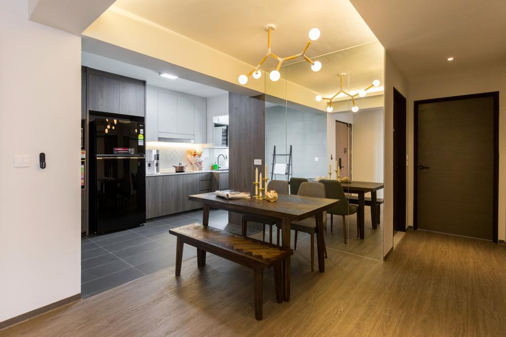 Modern, HDB, Dining Room, Toa Payoh East, Interior Designer, The Interior Place, Scandinavian