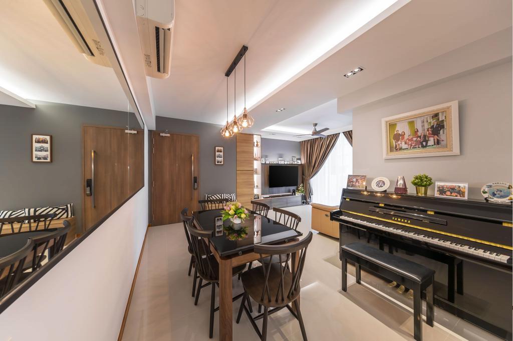 Modern, Condo, Dining Room, Treasure Crest, Interior Designer, Ciseern