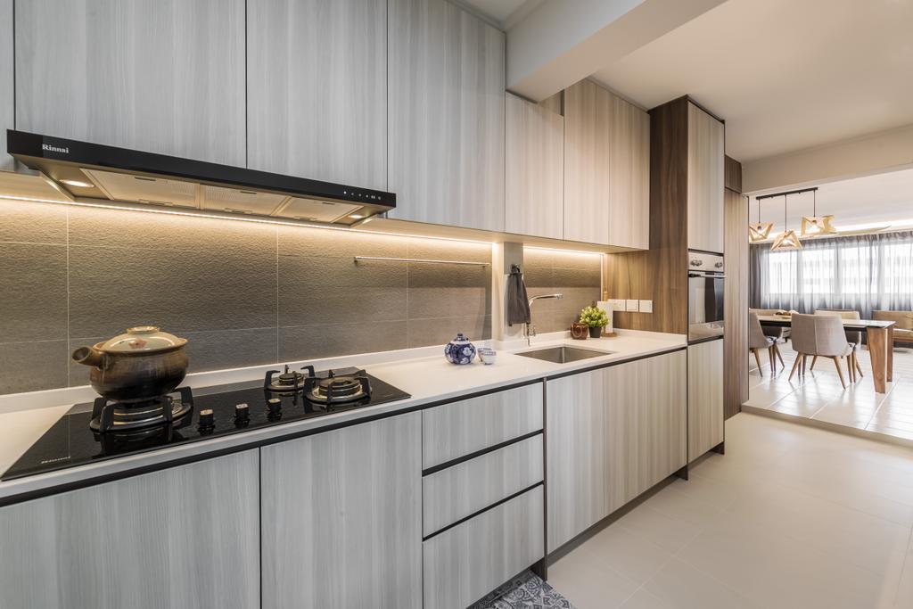 Modern, HDB, Kitchen, Jurong East Street 21, Interior Designer, Ciseern, Scandinavian