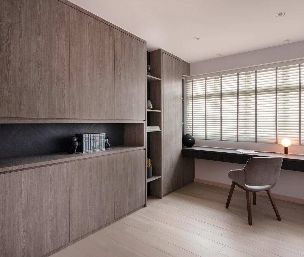 Modern, HDB, Study, Sumang Link (Block 313C), Interior Designer, KDOT, Scandinavian