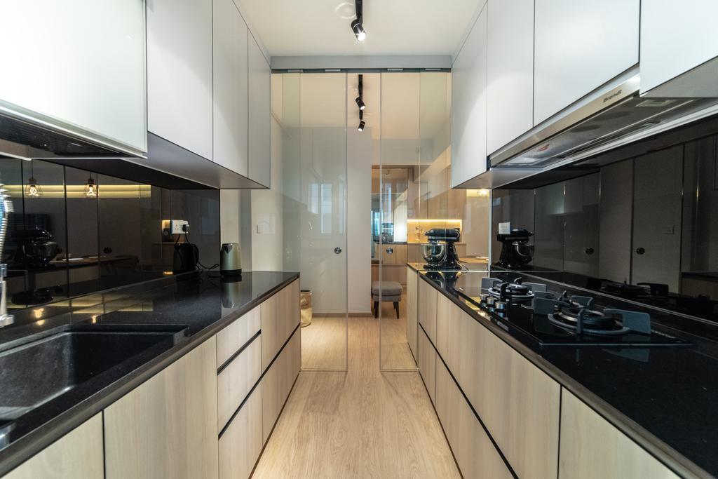Scandinavian, HDB, Kitchen, Telok Blangah Parcview, Interior Designer, Luova Project Services