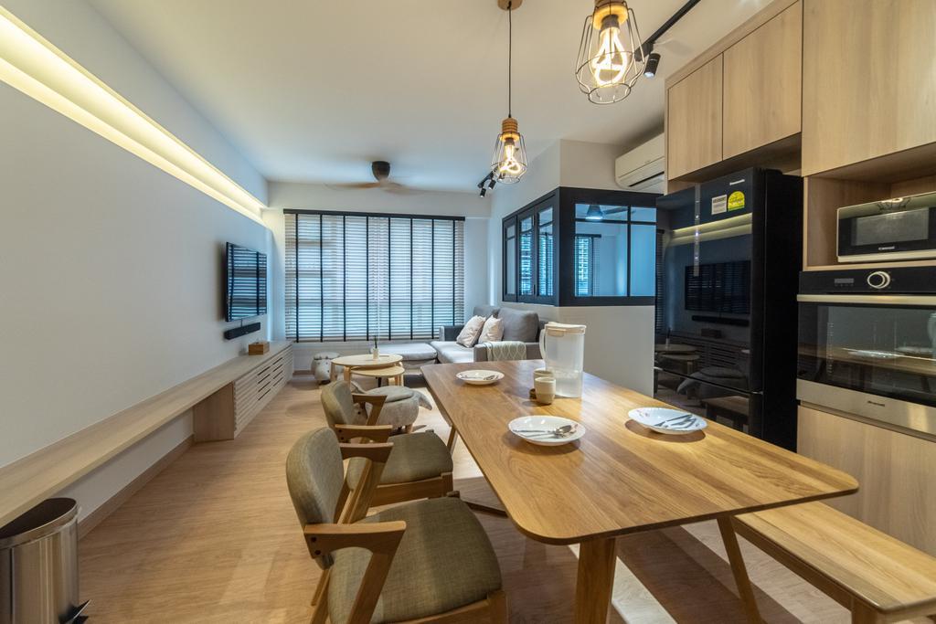 Scandinavian, HDB, Dining Room, Telok Blangah Parcview, Interior Designer, Luova Project Services